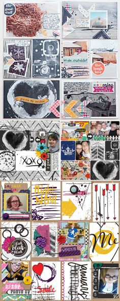 >> CT INSPIRATION using A Brush Of Life Cards #1 by Studio Basic and Heather Greenwood