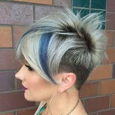 Image result for short spiky gray cut