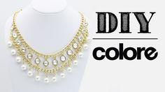 DIY Collar Cadena, Perla y Octagonal - Colore Accesorios