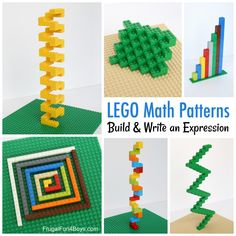 Build Math Patterns with LEGO Bricks - Frugal Fun For Boys and Girls - Informations About Build Math Patterns with LEGO Bricks – Frugal Fun For Boys and Girls Pin You c - Lego Design, Legos, Build Math, Math Patterns, Lego Challenge, Lego Activities, Lego Club, Lego Craft, Lego For Kids