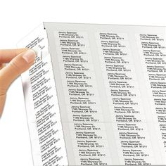 """Custom mailing address labels. Great for return address labels.  • RETURN ADDRESS LABELS: 1.75"""" W x .5"""" H • WHITE STICKER shipping labels on a sheet. Not perforated or on a roll. • Recommended use on paper products • Made in the USA • There is RUSH PROCESSING on this item  • Indicate in order notes or call for special requests • We print exactly as you enter it. We use best judgment to make corrections."""
