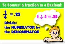 To Convert Fraction to Decimal