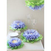 Paper Flower Pom (Set of 7) Color: Purple