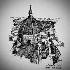 Firenze 2014 . #414steps #tamayhm #freehand #sketch #drawing #architecture #landscape #urbansketchs #florence #duomo #italy #arquitetapage #arqsketch #arch_more #arch_sketch #arch_student #traveltheworld