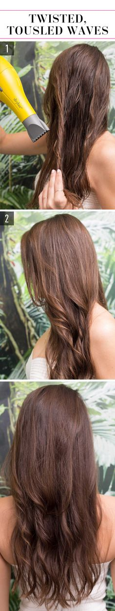 15 Super-Easy Hairstyles for Lazy Girls Who Can't Even Follow these steps for easy and *so* chic twisted, tousled waves.