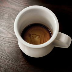 minor miracle mug - when filled with hot beverages, it reveals an image of the holy mother on the bottom
