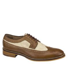 1920s Great Gatsby two tone mens shoes. Johnston  Murphy Conard Wingtip $155.00 AT vintagedancer.com