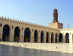 """the ancient Mosque of Al Hakim started in the year 990 AD with a decision from the Fatimid Caliph """"Al Aziz be Allah Ibn Al Muiz le Din Allah"""" and the mosque was completed in 1012 during the reign of Al Hakim Be'amr Allah, the third Fatimid ruler in Egypt."""