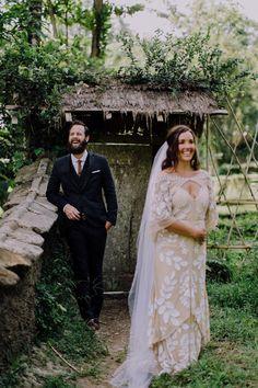 #aandberealbride // rue de seine gown // bali elopement