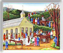 Gerard Valcin Haitian artist  Marriage Paysan (Country Wedding)