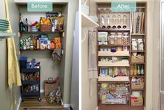 Kitchen pantry closet and walk-in pantry ideas to create a steamlined working space. Storage, baking zones, meal zones and cocktail zone ideas for your home Pantry Closet Organization, Pantry Shelving, Pantry Storage, Shelves, Restaurant Interior Design, Interior Design Living Room, Kitchen Pantry Design, Pantry Makeover, Walk In Pantry