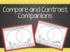 This product includes 25 compare and contrast companions. Each page includes two pictures and eight small circles that will walk students through comparing and contrasting the items!