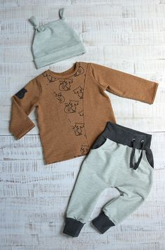 "Selbstgenähtes Kinder Outfit » Freebook ""Mütze OSLO"" / Rapantinchen » Baggy-Pants-Baby #48 / Kid5 » Wendeweste Zipfli / Rosile » Doodle Fox » French Terry"