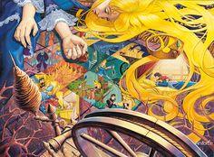 Illustration Story, Creative Illustration, Composition Art, Peace Art, Ghibli, Illustrations And Posters, Conte, Surreal Art, Disney Art