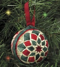 Affordable DIY Fabric Ornament For Christmas Decor 25 Folded Fabric Ornaments, Quilted Christmas Ornaments, Christmas Fabric, Handmade Christmas, Christmas Decorations, Christmas Balls, Ornament Crafts, Handmade Ornaments, Holiday Crafts