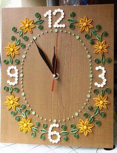 Papírvilág: quilling falióra / quilled wall clock