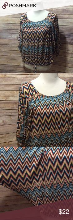 Dolman sleeve blouse Size large. Elastic waist. This top is so super soft. Round neckline. Dolman sleeve. Tops