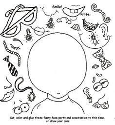 CP au CM2 : Portrait ou auto-portrait (découpage, collage)