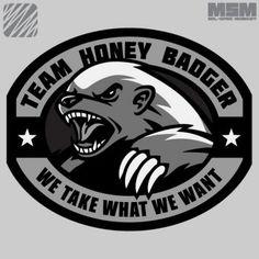 Honey Badger got to get it swat color.