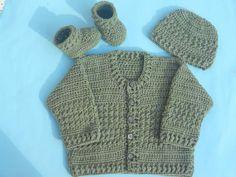 Easy Crochet Baby Cardigan   AllFreeCrochet.com