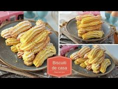 Biscuiti de casa spritati | RETETA USOARA - YouTube No Cook Desserts, Dessert Recipes, Romanian Desserts, Choux Pastry, Biscotti, Cravings, Deserts, Food And Drink, Lunch