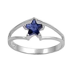 Amazon.com: Sterling Silver 7mm Star Blue Sapphire CZ Ring (Size 4 - 9): Jewelry $12.95 (save 60)