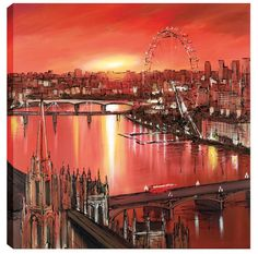 London's Last Light, Paul Kenton - Boxed Canvas