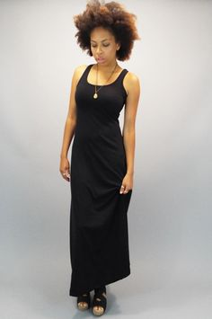 Racer Back Tank Dress (Maxi), Made in America