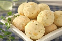 Pao de Queijo: cheese buns that are great with a coffee in the afternoon...