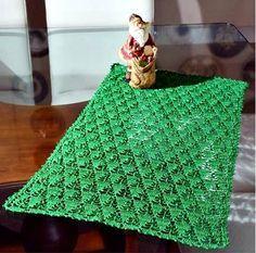 toalha pinheiro em croche natal em croche com receita