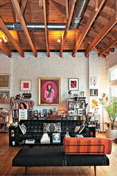 I like to think this style is like grown up punk, who realizes that having nice things isn't all bad. haah The Loft of Eric Shiner - Director of the Andy Warhol Museum