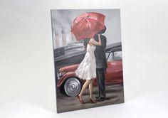 Toile Amoureux sous parapluie - Amadeus