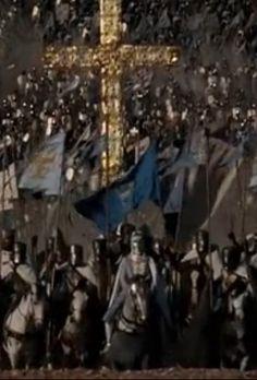 Os cronistas nos descrevem Balduíno IV e seu exército imergindo e desaparecendo num instante entre a multidão das forças muçulmanas que tentavam se reorganizar no leito do rio seco.