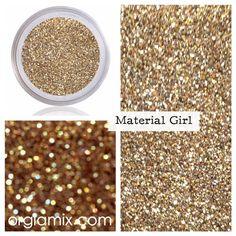 Glitter Pigment - Material Girl Glitter #pigment #glitter #makeup #shimmer #glam #cosmetics #gold #color #propigment #mua #makeup #crueltyfree #PETA #metallic #iridescent #makeupartist $10.00