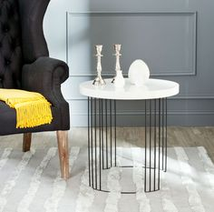 Looking for Safavieh Home Collection Kelly Mid-Century Modern Taupe Black Side Table ? Check out our picks for the Safavieh Home Collection Kelly Mid-Century Modern Taupe Black Side Table from the popular stores - all in one. Black Side Table, White Side Tables, Sofa End Tables, End Tables With Storage, Table Desk, Nesting Tables, Wood And Metal, Mdf Wood, Solid Wood