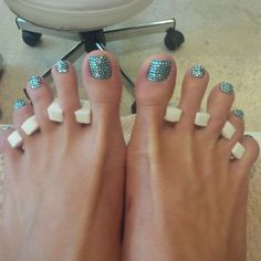 How's this for bling? Swarovski pedicure from the #Fontainebleau hotel  www.miamicurated