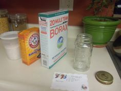 Homemade Dishwasher Detergent and Rinse