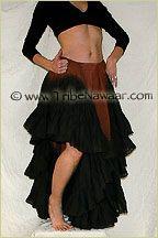 Tribe Nawaar Skirt Tucking Example 25 Yard Tribal Bellydance Skirt HitchHiker Tuck Belly Dance Skirt Gypsy Skirt Flamenco Skirt ATS…