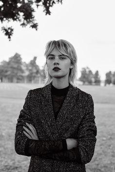 "Photographer Markus Pritzi shot EDITED's new atmospheric lookbook named ""Grunge Romance"" featuring model Celine Bouly"