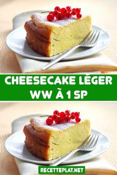 Here is the recipe for the 1 SP light cheesecake, a delicious cheesecake . - Here is the recipe for a light cheesecake at 1 SP, a delicious very light cheesecake, without fat, - Cheesecake Leger, Light Cheesecake, Ww Desserts, Healthy Dessert Recipes, Cake Recipes, Diabetic Snacks, Diabetic Recipes, Diabetes Mellitus Typ 2, Weight Watchers Breakfast