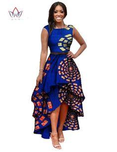 African Dashiki Ankara Dresses with Cascading Ruffle African Maxi Dress - Long Dress Gender: Women Waistline: Natural Decoration: Cascading Ruffle Sleeve Style: Tank Pattern Type: Print Style: Cute Ma