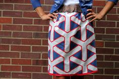 skirt made from a pillowcase with an elastic waist...clever