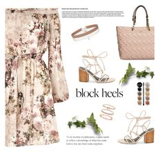 """""""Block heels"""" by aneetaalex ❤ liked on Polyvore featuring Rebecca Minkoff, River Island, Karl Lagerfeld, Miss Selfridge, Accessorize and Giorgio Armani"""