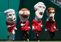 racing presidents (washington, jefferson, lincoln, teddy roosevelt), washington nationals.