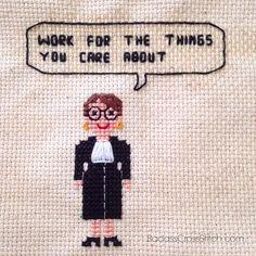 Ruth Bader Ginsburg SCOTUS Cross Stitch