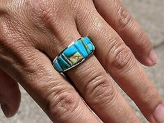 Southwest Jewelry, Everything Must Go, Turquoise Rings, Mosaic, Sterling Silver, Mosaics, Mosaic Art