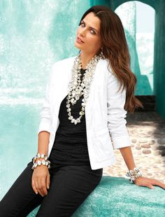 Pair a Linen Jacket with Bold Jewelry #chicos