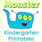 1+1+1=1...Kindergarten Printables- Cute monster math worksheets