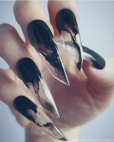 Why are stiletto nails so amazing? We have found the very Best Stiletto Nails for 2018 which you will find below. Having stiletto nails really makes you come off as creative and confident. You can be that fierce girl you always wanted to be! Cute Acrylic Nails, Cute Nails, Pretty Nails, Gel Nails, Clear Nails, Nail Art Designs, Acrylic Nail Designs, Acrylic Tips, Acrylic Art