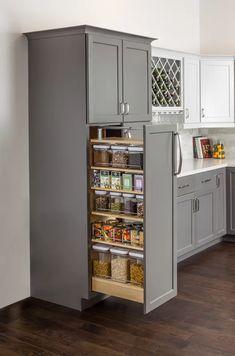 Kitchen Pantry Design, Diy Kitchen Cabinets, Modern Kitchen Design, Home Decor Kitchen, Interior Design Kitchen, Home Kitchens, Kitchen Organization, Small Kitchen Pantry, Storage Organization